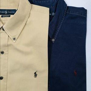 Lot of 2 polo Ralph Lauren shirts XXL CUSTOM FIT